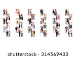 isolated groups many colleagues  | Shutterstock . vector #314569433