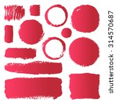 hand drawn abstract make up... | Shutterstock .eps vector #314570687