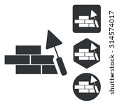 building wall icon set ...