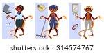 set of paper dolls of monkeys... | Shutterstock .eps vector #314574767