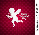 vector illustration of cupid... | Shutterstock .eps vector #314587937