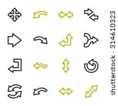 arrows web icons set | Shutterstock .eps vector #314610323