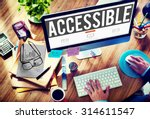 Small photo of Accessible Approachable Access Enter Available Concept