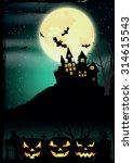 halloween poster. vector... | Shutterstock .eps vector #314615543