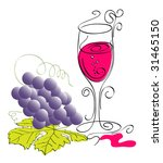 red wine. vector illustration. | Shutterstock .eps vector #31465150