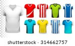 collection of soccer jerseys... | Shutterstock .eps vector #314662757