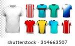 set of colorful soccer jerseys. ...   Shutterstock .eps vector #314663507