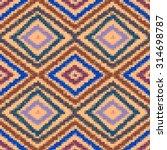 rhombus colorful geometric folk ... | Shutterstock . vector #314698787