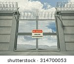 3d Image Of Security Border...