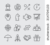 strategy line icons | Shutterstock .eps vector #314704133