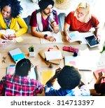 diversity teamwork...   Shutterstock . vector #314713397