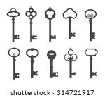 black keys icons set  vector.... | Shutterstock .eps vector #314721917