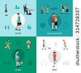 lifestyle design concept set... | Shutterstock .eps vector #314728337