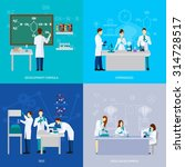 scientists design concept set... | Shutterstock .eps vector #314728517
