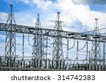 electric post power plant...   Shutterstock . vector #314742383