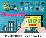 food delivery with mobile order ... | Shutterstock .eps vector #314751953