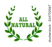 all natural. ecologically pure. ... | Shutterstock .eps vector #314752067