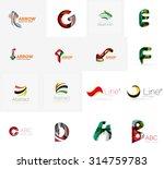 set of new universal company... | Shutterstock .eps vector #314759783