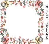 frame with floral elements... | Shutterstock .eps vector #314788133