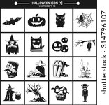 halloween icon collection... | Shutterstock .eps vector #314796107