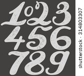 numbers set in hand drawn... | Shutterstock .eps vector #314803307