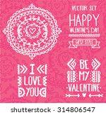 set of decoration lettering... | Shutterstock .eps vector #314806547
