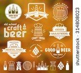 craft beer brewery emblems ... | Shutterstock .eps vector #314808023