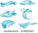 blue wave water abstract set | Shutterstock .eps vector #314820467