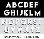 decorative letters  | Shutterstock .eps vector #314821487