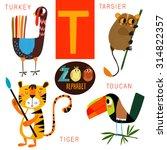 cute zoo alphabet in vector.t... | Shutterstock .eps vector #314822357