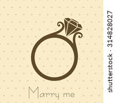 wedding ring with diamond... | Shutterstock .eps vector #314828027