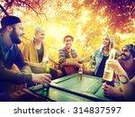 diverse people friends hanging... | Shutterstock . vector #314837597