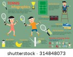 man and woman playing tennis... | Shutterstock .eps vector #314848073