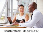 two corporate business...   Shutterstock . vector #314848547