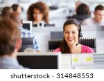 Young Woman Working In Call...