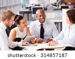 four office colleagues in a... | Shutterstock . vector #314857187