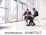 two business colleagues at... | Shutterstock . vector #314857217