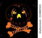 """""""happy halloween"""" poster   card ...   Shutterstock .eps vector #314880503"""