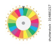 vector illustration wheel of... | Shutterstock .eps vector #314881217