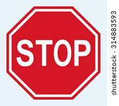 stop sign vector  | Shutterstock .eps vector #314883593