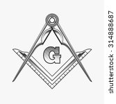 freemasonry emblem logo with g... | Shutterstock . vector #314888687