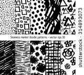 set of hand drawn marker doodle ... | Shutterstock .eps vector #314893073
