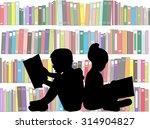children reading the book. | Shutterstock .eps vector #314904827