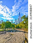 view of central park in a sunny ... | Shutterstock . vector #314908847