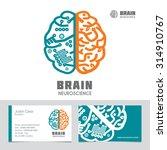 left   right human brain... | Shutterstock .eps vector #314910767