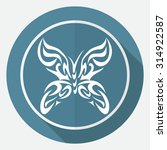 butterfly icon | Shutterstock .eps vector #314922587