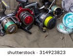 fishing reels with line... | Shutterstock . vector #314923823