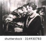 switchboard operators at work | Shutterstock . vector #314930783