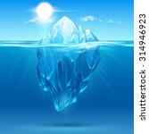 iceberg illustration | Shutterstock .eps vector #314946923