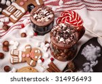 two cups of cocoa  | Shutterstock . vector #314956493